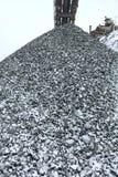 Magazzino del carbone e della pietra, pietre della cava Fotografia Stock