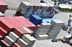 Magazzino del container fotografie stock libere da diritti
