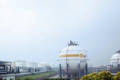 Magazzino del gas naturale Immagini Stock