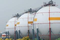Magazzino del gas naturale Fotografia Stock