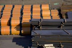 Magazzino del metallo Fotografie Stock