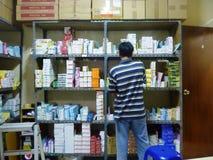 Magazzino della droga Fotografia Stock