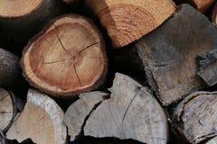 Magazzino della legna da ardere Fotografia Stock Libera da Diritti