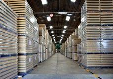Magazzino di inventario di fabbricazione Fotografie Stock