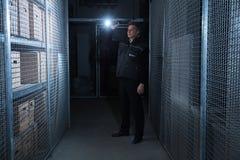 Magazzino di Standing In The della guardia giurata fotografia stock libera da diritti