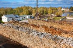 Azione della pasta di legno Fotografia Stock Libera da Diritti