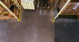 Magazzino moderno alla fabbrica, vista dalla cima Fucilazione moderna del magazzino dal fuco archivi video