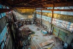 Magazzino o fabbricato industriale abbandonato Immagine Stock Libera da Diritti