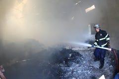 Magazzino su fuoco Fotografia Stock Libera da Diritti