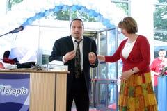 Magda Catone and Claudiu Bleont Royalty Free Stock Photos