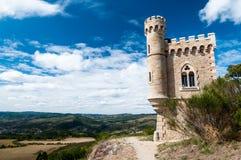 Magdala turnerar och landskap på Rennes le Chateau Royaltyfri Fotografi