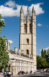 Magdalen College, Oxford. The chapel tower of Magdalen College, Oxford royalty free stock photos