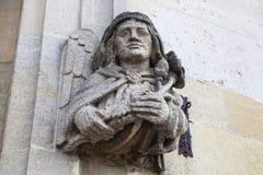 Magdalen College Sculpture i Oxford Fotografering för Bildbyråer