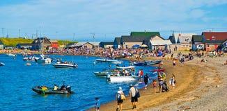Magdalen Islands Iles de la Madeleine Beach arkivbilder