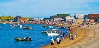 Magdalen Islands, La Madeleine Beach di Iles de Immagini Stock