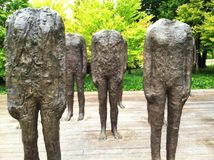 Magdalena Abakanowicz's Standing Figures at the Nelson-Atkins Museum of Art Stock Photography