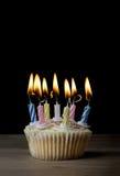 Magdalena del cumpleaños con las velas del Lit Fotos de archivo libres de regalías