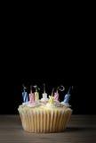 Magdalena del cumpleaños con las velas sopladas hacia fuera Fotos de archivo libres de regalías
