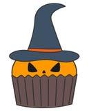 Magdalena linda de la calabaza de Halloween de la historieta en el fondo blanco Imagenes de archivo