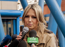 Magdalena Ogorek, υποψήφιος για τον Πρόεδρο της Δημοκρατίας Πολωνία Στοκ φωτογραφία με δικαίωμα ελεύθερης χρήσης
