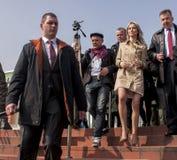 Magdalena Ogorek, kandidaat voor President van de Republiek Polen Stock Foto