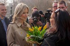 Magdalena Ogorek, kandidaat voor President van de Republiek Polen Royalty-vrije Stock Afbeelding