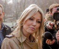 Magdalena Ogorek kandidat för presidenten av republiken Polen Arkivbilder