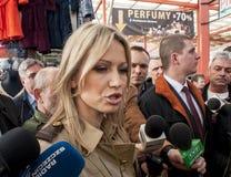 Magdalena Ogorek kandidat för presidenten av republiken Polen Royaltyfria Bilder