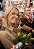 Magdalena Ogorek kandidat för presidenten av republiken Polen Royaltyfri Bild