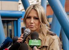 Magdalena Ogorek kandidat för presidenten av republiken Polen Royaltyfri Fotografi