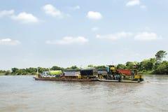 Santa Cruz de Mompox, Bolivar / Colombia - March 18, 2017. The Magdalena River is a continuous stream of water that empties into t. The Magdalena River is a royalty free stock photo
