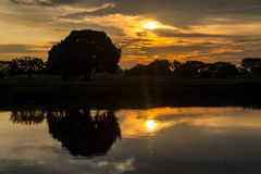 Magdalena River Sunrise royalty free stock photos
