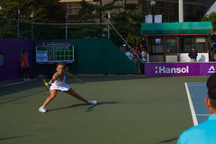 Magdalena Rybarikova Lunging Ball Forehand Stab Stock Photography