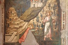 Magdalena y Cristo subidos otra vez Fotos de archivo libres de regalías