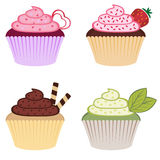 Magdalenas coloridas dulces Imágenes de archivo libres de regalías