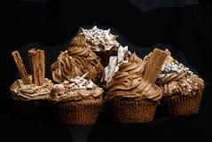 Magdalenas del chocolate Imagen de archivo libre de regalías