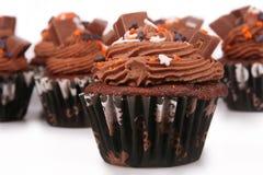 Magdalenas del chocolate del día de fiesta Foto de archivo libre de regalías
