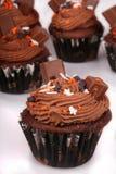 Magdalenas del chocolate del día de fiesta Fotos de archivo libres de regalías