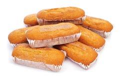 Magdalenas largas,典型的西班牙简单的松饼 库存图片