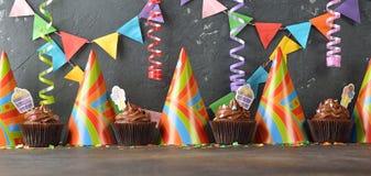 Magdalenas para el cumpleaños Foto de archivo