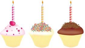 Magdalenas para los cumpleaños Imagen de archivo libre de regalías