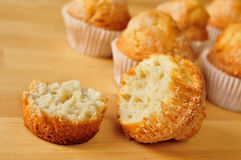 Magdalenas, typical spanish plain muffins Stock Photo