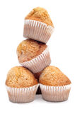 Magdalenas, typical spanish plain muffins Stock Photos