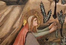 Magdalene ser den uppstigna Kristus igen Arkivbilder