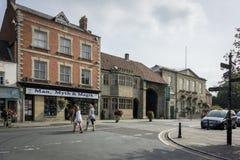 Magdalene Street Glastonbury Stockfotos