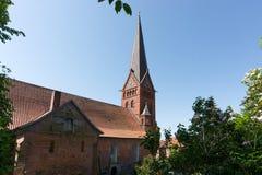 Magdalenenkirche在劳恩堡,德国 免版税库存图片