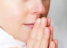 Magdalenka ono modli się bóg fotografia stock