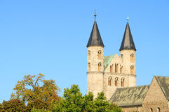 Magdeburg abbey Stock Images