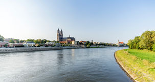 Magdeburg, captital city in Saxony Anhalt, Germany Royalty Free Stock Images