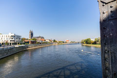Magdeburg, captital city in Saxony Anhalt, Germany Stock Photos